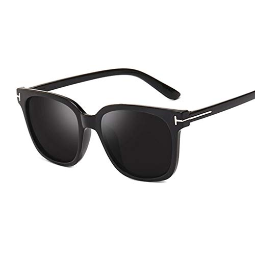 FDNFG Gafas de Sol Retro Sombras de Ojo de Gato para Mujer Marca de Lujo Gafas de Ojo de Gato Negro Boutique Elegante Gafas de Sol Sexy Gafas de Sol (Lenses Color : Black Gray)