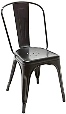 PP Chair Solid Metal Chair Kitchen Cafe Study Dining Home Stackable Chair with Back Rest Heavy Duty