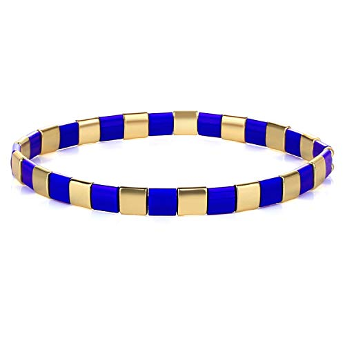 KANYEE Bracelets élastique pour Femme Bracelets D'amitié Bracelets Perlés Tila Bracelets Breloques Mode De Manchette pour Cadeaux d'anniversaire – 8I