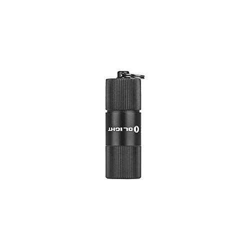 Olight i1R 2 EOS / I1R II EOS Key Ring Mini Torch CSP LED 150 Lumens Small Torches USB Rechargeable Keychain Pocket Flashlight Light, with Battery Case (Not with USB Charging Cable)