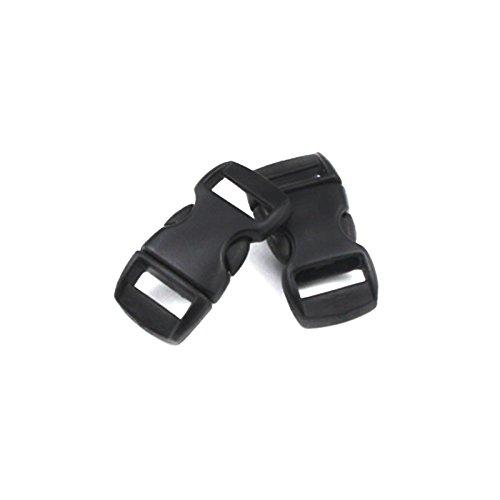 LAIY 20pcs 10mm Plastikverschlüsse Side Release Schnallen Armband Rucksäcke Schuhe Taschen Cat Dog Collar Zubehör