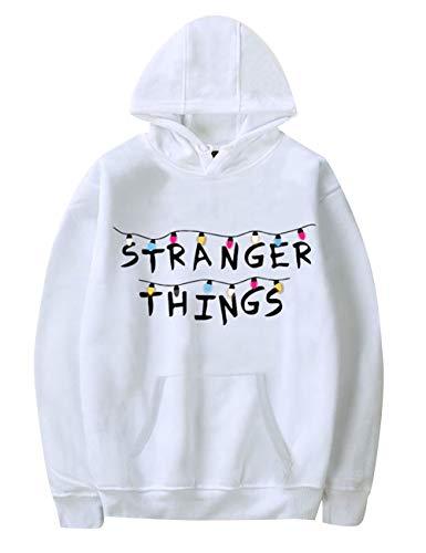 Pull Stranger Things Femme, Unisexe Sweat Stranger Things Enfant Fille Eleven Sport Sweat-Shirt a Capuche Sweat Shirt Homme Mode Pas Cher Hoodie Sweatshirt Fan de Séries TV (1,XS)