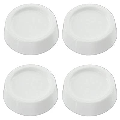 Universal Anti Vibration Rubber Feet Pads for all makes of Washing Machine (Pack of 4, Non Slip, White, 60mm x 54mm x 20mm)