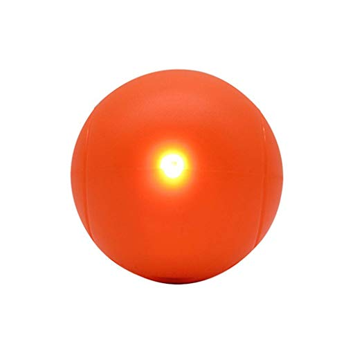 Safe Bunte lustige Katze glühendes Spielzeug Ball, reduziert Übergewicht und Einsamkeit, Tennis-Form-Kugel freundlich (Color : O)