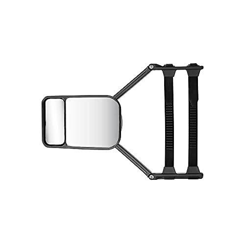 Swetup Wohnmobilspiegel, Wohnwagenspiegel, Caravan Spiegel, Zusatzspiegel für Wohnwagen & Auto, Universalspiegel Aero Mirror Flat mit extralangen Spannriemen 39 cm für alle gängigen Fahrzeugtypen
