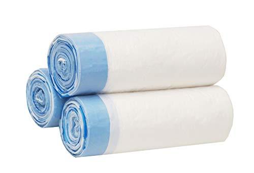 Besli 1.6 Gallons Drawstring Strong Trash Bag Garbage Bag (90 Bags, White)