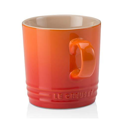 Le Creuset Becher mit Henkel, 350 ml, Steinzeug, 12 cm Höhe, Ofenrot