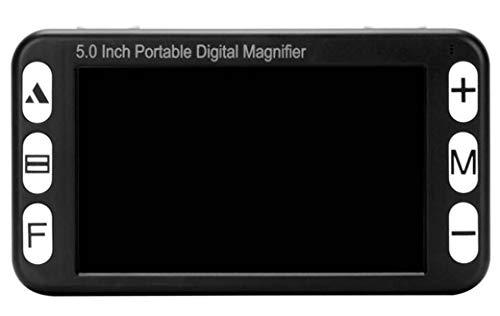Draagbaar digitaal vergrootglas, elektronische leeshulp 5 inch met inklapbare handgreep voor slechtzienden 4X-32X zoom 19 kleurmodi USB & TV