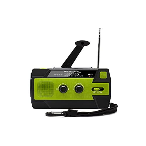 WGLL Manivela de Radio de Emergencia, 4000mAh-solar de la manivela portátil Am/FM/NOAA Radio meteorológica con 1W Linterna y lámpara de Lectura Sensor de Movimiento, Cargador de teléfono Celular,