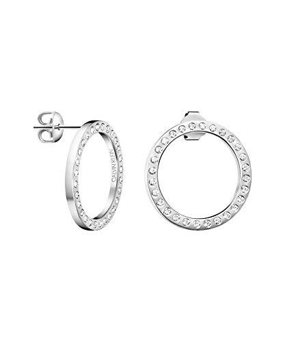 Calvin Klein Damen-Creolen Edelstahl, Kristall Kristall One Size 87563464