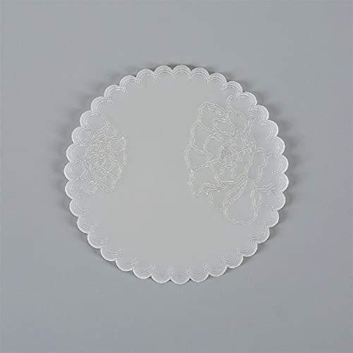 UIOP 10 unids Silicone Placemat Vajilla Almohadilla Aceite Aceite Resistente al Agua Aislamiento de Calor Antideslizante Mesa de Estera de Mesa para Cocina Lavable Copa 421 (Color : Transparent)