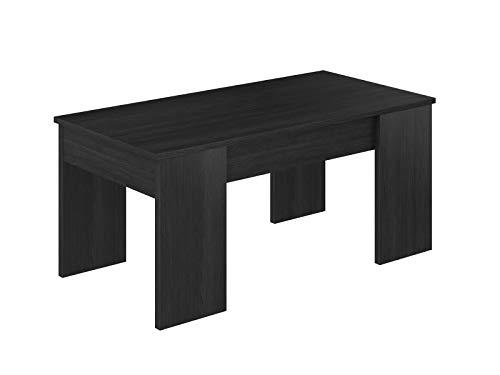 Movian Aggol Modern - Mesa de centro elevable, 50 x 100 x 44 cm (gris)