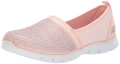 Skechers Damen Ez Flex Renew - Shimmer Show Slip On Sneaker, Pink (Rose Gold Rsgd), 39 EU