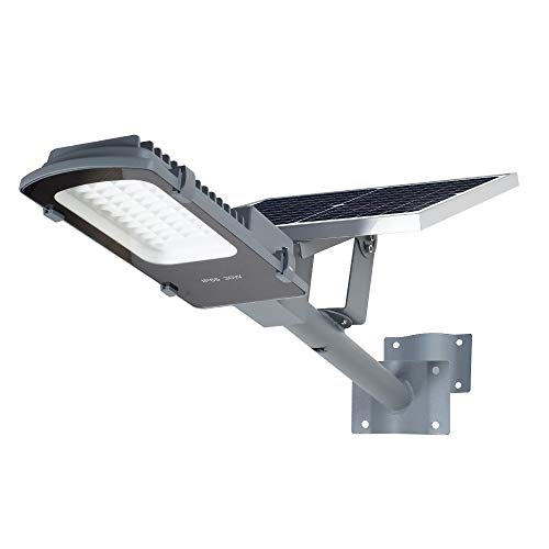 Gebosun LED 60W Solar Flood Outdoor Street Lights,IP65 Waterproof Dusk to Dawn Security Area Light 6000 Lumen 6000K for Yard, Garden, Warehouse, Swimming Pool, Pathway, Basketball Court.
