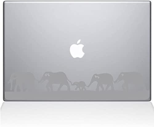 The Decal Guru Elephant March MacBook Decal Vinyl Sticker 13 MacBook Air Silver 0152 MAC 13A product image