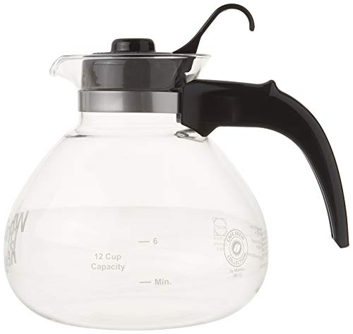 CAFÉ BREW COLLECTION WK112 Glass Cafe Brew 12 Cup Stovetop Whistling Kettle, c