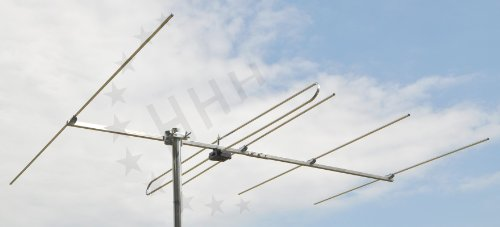 5 Elemente Yagi UKW/FM Antenne 3H-FM-5 mit F-Anschluss für horizontale oder vertikale Außen- oder Unterdachmontage