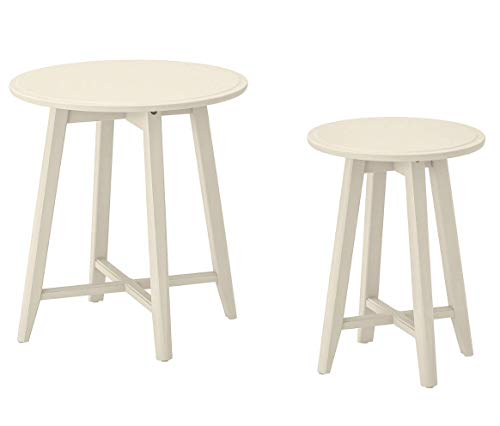 Opulence Trading Contemporary Nest of tables, Set of 2 LIGHT BEIGE