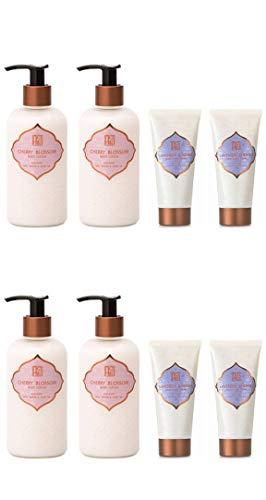 AKALIKO Cherry Blossom Body Lotion and Lavender Cherish Hand Cream - Set C.