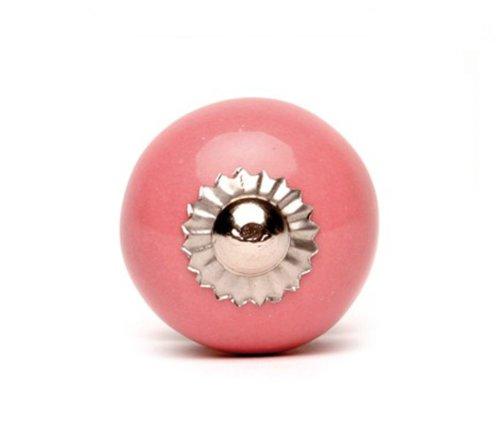 la fraise rouge Möbelknauf - einfarbig/Uni - pink - klein