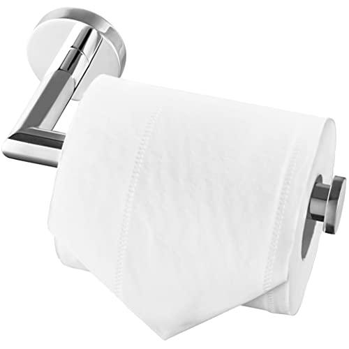 HITSLAM portarrollos para Papel higiénico Acero Inoxidable Porta Rollos de Papel higienico portarrollos baño ontado en la Pared con Tornillos para baño - Acabado Pulido - Plata