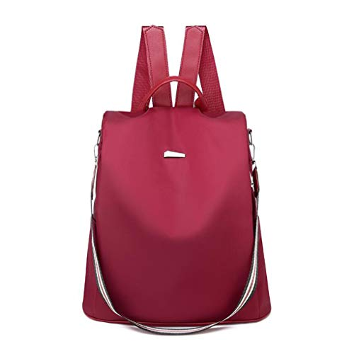 Women Anti-theft Backpack Purse Waterproof Rucksack Ladies Shoulder Bags Tote bag Travel bag Handbags Safebag Elegant,red
