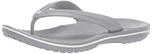 crocs Crocband Flip, Chanclas Unisex Erwachsener, Grau (Light Grau/White 00j), 43-44 EU