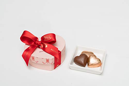 COVA MONTENAPOLEONE 1817(コヴァ モンテナポレオーネ) ハートボックス ピンク チョコレート ハートジャンドゥイヤ 母の日 父の日 贈答用 お礼 ギフト お菓子 高級 手提げ付き 150g
