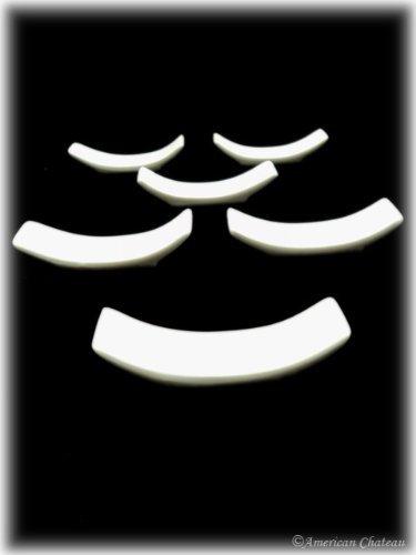 Happy Sales Set of 6 White Porcelain Knife Rests/Chopstick Rest