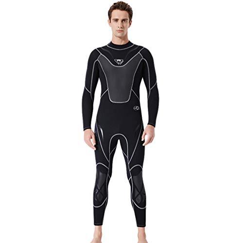 YuanDian Uomo 3mm Neoprene Muta da Sub Inverno Caldo Elasticità Manica Lunga Immersione Tuta Subacquea Sport Acquatici Surf Nuoto Triathlon Snorkeling Abbigliamento da Sub Nero M