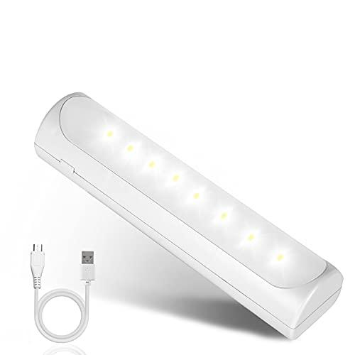Luz de noche LED de mano con linterna de emergencia recargable regulable luces de armario súper brillante potente lámpara de noche magnética para dormitorio pasillo escaleras cocina camping senderismo
