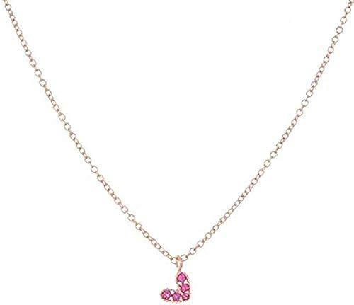 Collar Elegante Collar para Mujer Collares Y Collares Pendientes De Temperamento Rojo Amor En Forma De Corazón