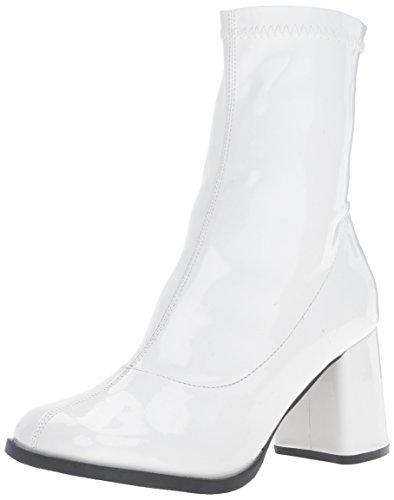 Funtasma Women's Gogo150/w Boot, White Stripe Patent, 8 M US
