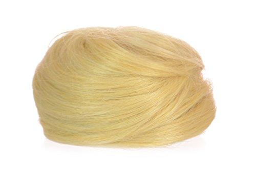 Postiche Cheveux Relevés Chignon Dessus du Crâne Top Knot/Chignon Effet Enroulé Lâche/Système de