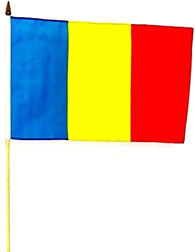Vlag voor stok, vlag, vlag, 30 x 45 cm Roemeen, in 5-delige set
