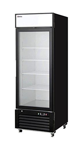 Vortex Refrigeration Commercial 1 Glass Door Merchandiser Freezer - Black - 23 Cu. Ft.