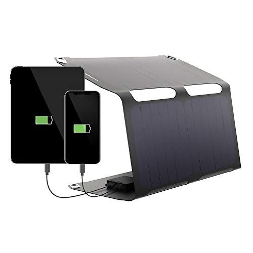 Sunnybag SUNBOOSTER | Solarpanel faltbar mit 21 Watt Leistung | Solar Charger zum Handy Laden unterwegs | Wasserfest und leicht | 2 USB-Ausgänge | Solar Ladegerät für Wandern, Camping, Outdoor