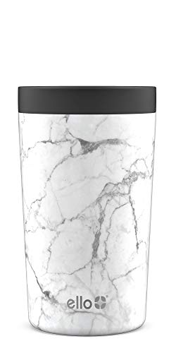 Ello Jones Kaffeebecher aus Edelstahl, Unisex-Erwachsene, Reisetasse, Jones, Marmor (11oz), 18oz &11oz