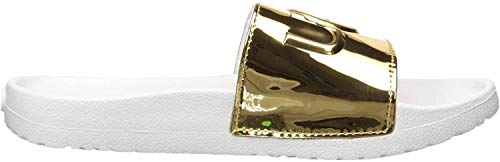 UGG Damen - Pantoletten ROYALE GRAPHIC METALLIC - gold, Größe:37 EU