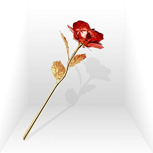 Childom 24K Red Rose Flower, Flowers Gift, Artificial Rose Flowers Gifts for Women, Gift for Women,...