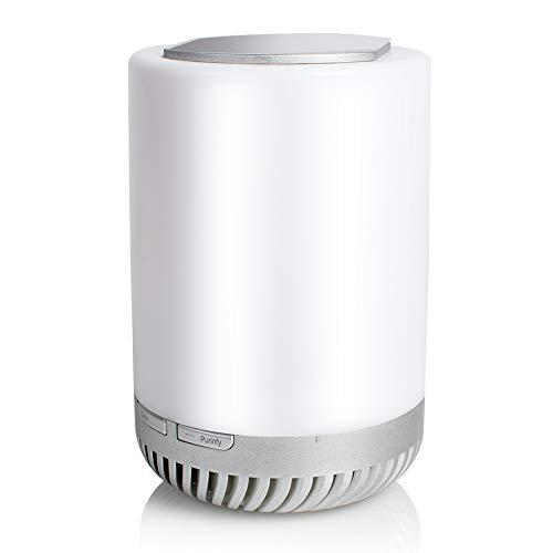 Best Buy! Home Portable Air Purifier Aromatherapy Air Cleaner Remote Night Light with Flowerpot