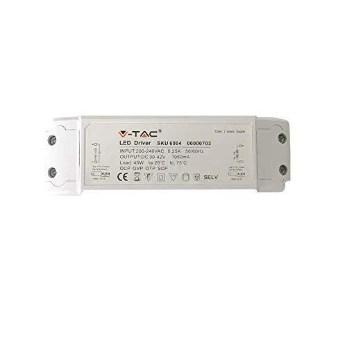 V-TAC VT-4016-3 SKU 7922 Ventilateur oscillant 40 W sur Le Sol 120 cm 3 pales en Plastique Blanc