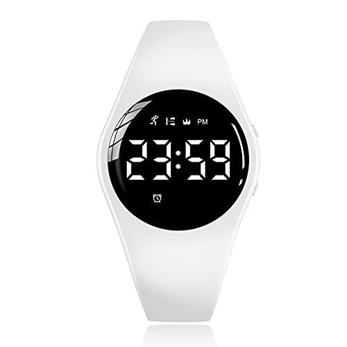 Relojes para hombre ultrafinos y minimalistas impermeables, reloj de pulsera unisex con banda de malla de acero inoxidable (color: blanco)