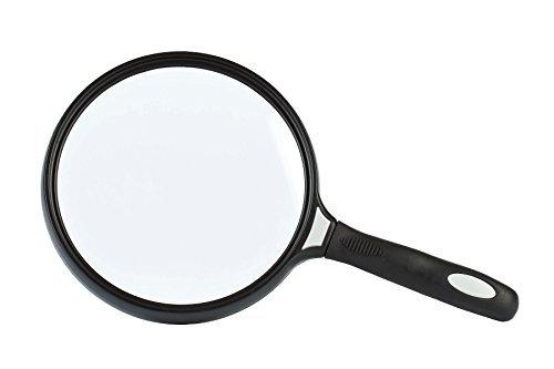 GOLDIFLORA OPTICS – Numero articolo 1330 – HandD/Leselupe con grande diametro della lente (130 mm) – 2 X X X X X X X X – Peso: ca. 200 g – incl. accessori