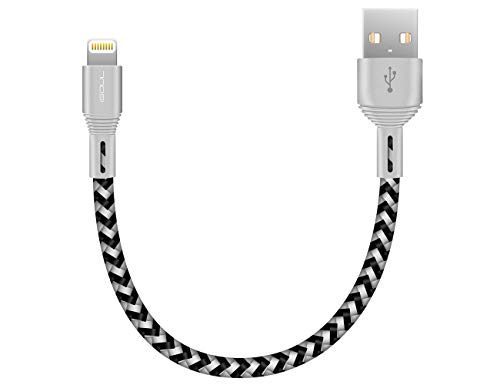 iSOUL Lightning iPhone Charger Cable, 15CM Short Braided USB Cord for iPhone 13/12/11/Pro/XS/Max/XR/X/10/8/7/6s Plus, iPad Air/Pro/Mini, iPod [Ultra Fast Sync & Charging]