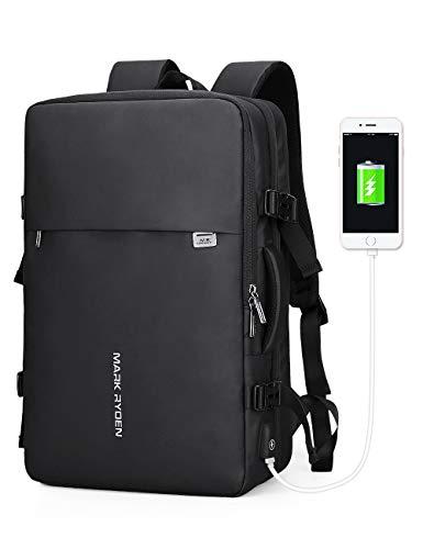 Mark Ryden 【YKK Zipper】23/40L Carry on Travel Backpack for Men underseat Flight Expandable Bag fit 17.3 Laptop