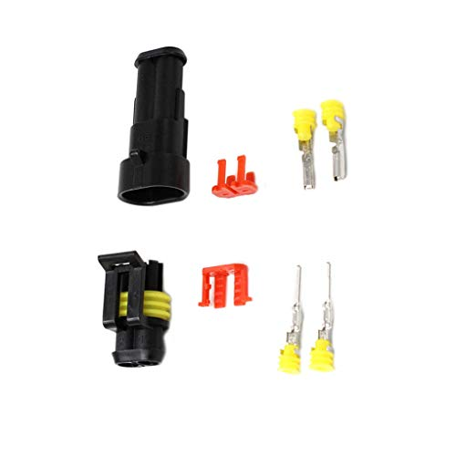 DANDANdianzi 10pcs 2 Pin Way Waterproof Car Plug Electrical Wire Connector Set Nylon Vehicle Accessories