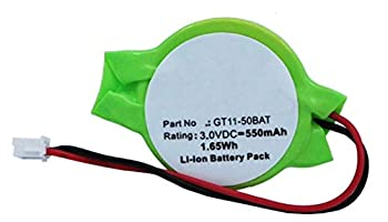 Synergy Digital CMOS/BIOS Battery Works with Mitsubishi FX3U-32BL CMOS/BIOS  Li-Ion 3V 550 mAh  Ultra High Capacity Battery