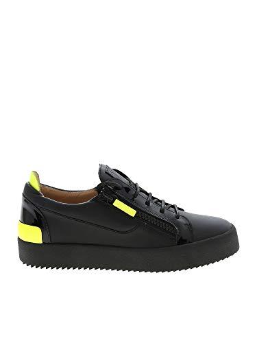 Giuseppe Zanotti Luxury Fashion Design Uomo RU90072001 Nero Pelle Sneakers | Autunno-Inverno 19