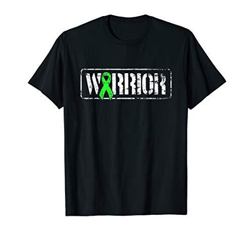 Non Hodgkins Lymphoma Warrior - Green Military Style Ribbon T-Shirt